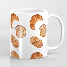 French pastries - croissant, chocolate, rasin Coffee Mug