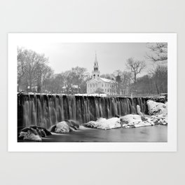 Milford Town in Winter Art Print