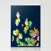 rasta Stationery Cards featuring Rasta Jellies by Heidi Fairwood