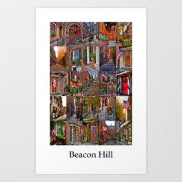 Beacon Hill Collage Art Print