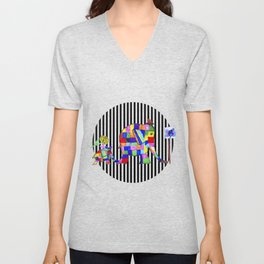 Elephant Festival |Family Walk | #society6 Unisex V-Neck