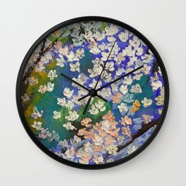Sakura Oil Painting Wall Clock