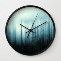 sin city Wall Clocks featuring Sin City Night by Dorit Fuhg