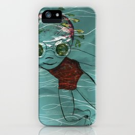 Blue Swimmer no. 8 iPhone Case