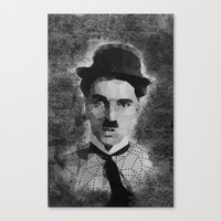 chaplin Canvas Prints featuring Chaplin by Dino cogito