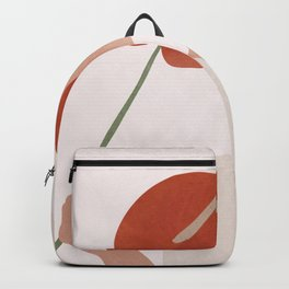 Lady with a Red Leaf Backpack