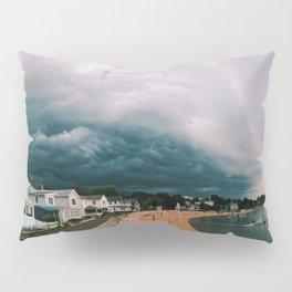 Beach Storm Panorama Pillow Sham