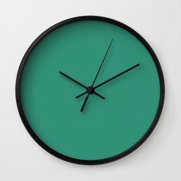 Illuminating Emerald - solid color Wall Clock