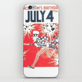 4th of July - Uncle Sam iPhone Skin