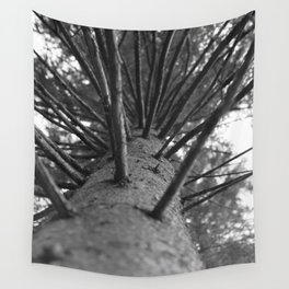tree black and white photo Wall Tapestry