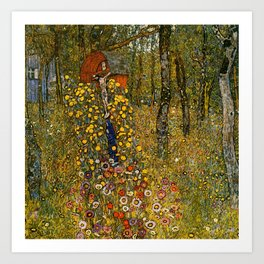 "Gustav Klimt ""Farm Garden with Crucifix "" Art Print"