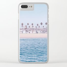 Vintage Newport Beach Print {3 of 4} | Photography Ocean Palm Trees Cool Blue Tropical Summer Sky Clear iPhone Case