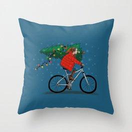 Bike Life: Christmas Throw Pillow