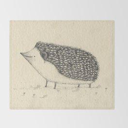 Monochrome Hedgehog Throw Blanket