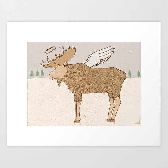 Holy Moose Art Print