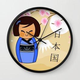 Kokeshi Mizuki Wall Clock