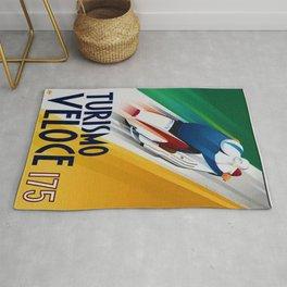 Vintage Turismo Veloce 175 - Lambretta TV175 Advertisement Poster Rug