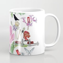 London in Bloom - Flowers and transportation that make London Coffee Mug