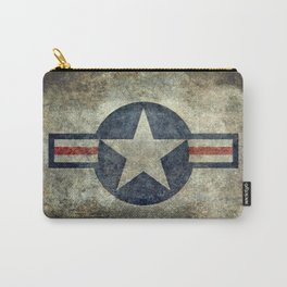 USAF vintage retro style roundel Carry-All Pouch