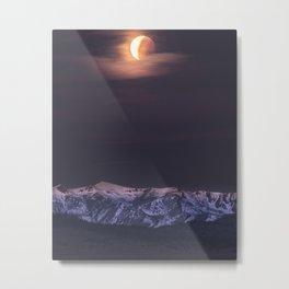 Eclipse Setting Metal Print