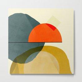 mid century geometric modern painting abstract II Metal Print