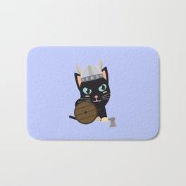 Viking cat   Bath Mat