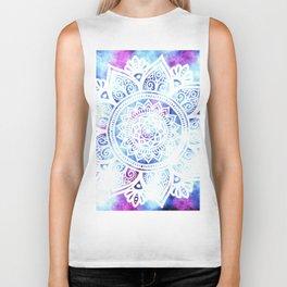 Purple and Blue Tied-Dye Mandala - LaurensColour Biker Tank