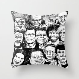 Dead Celebrities Throw Pillow