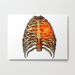 Fiery Heart Metal Print