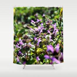 Purple Groundcover Shower Curtain