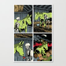 Death and his Pale Horse Canvas Print