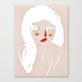 'messy hair' Canvas Print