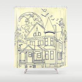 A Florida House Shower Curtain