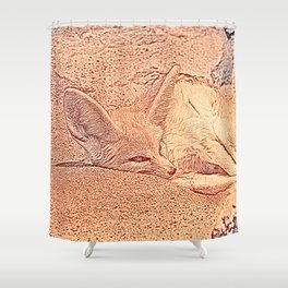 Sketchy Fennec Fox Shower Curtain