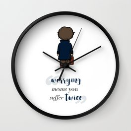Worrying means you suffer twice - Newt Scamander Wall Clock