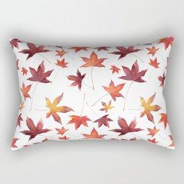 Dead Leaves over White Rectangular Pillow