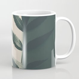 minimal art with aleave in black and white Coffee Mug