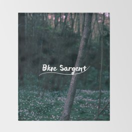 Blue Sargent Throw Blanket