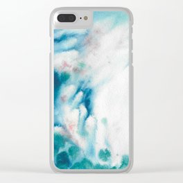Waves of turquoise Clear iPhone Case