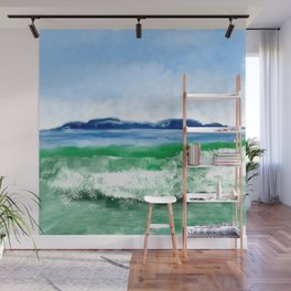 Blue to Emerald Waters Wall Mural