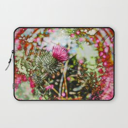 Vibrant abstract  thistle Laptop Sleeve