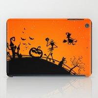 jack skellington iPad Cases featuring Halloween Jack Skellington  by Raisya