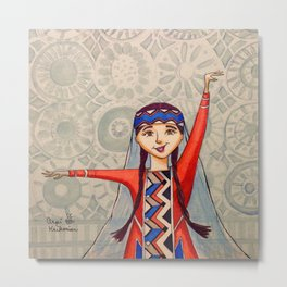 Arpi (Previously titled Armenian Dancer) Metal Print