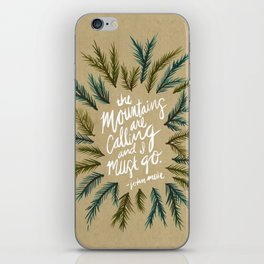 Mountains Calling – Kraft iPhone Skin