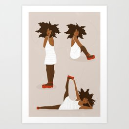 POSE 01 Art Print