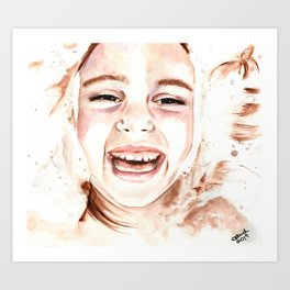 Bath Time Too. Watercolor painting. Art Print