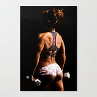 fitness Canvas Prints featuring Fitness by Eric Lauritzen