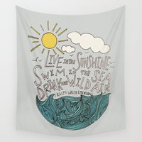 waldo Wall Tapestries featuring Emerson: Live in the Sunshine by Leah Flores