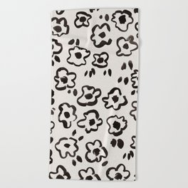 Minimalist Floral Beach Towel