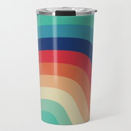Retro Rainbow Mood Travel Mug